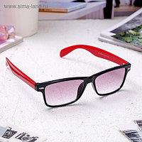 Очки корригирующие 6619, размер 14,1х13,5х4, цвет красно-чёрный, тонированные, +2,5