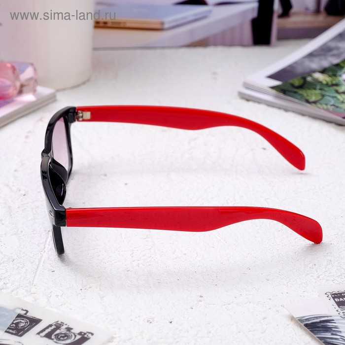 Очки корригирующие 6619, цвет красно-чёрный, тонированные, -4 - фото 3