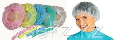 Шапочка - берет (шарлотка) медицинская (цвета:розовый, зеленый, голубой, белый)