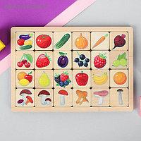 Игра развивающая деревянная «Овощи, фрукты, ягоды, грибы»