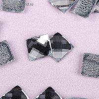 Стразы термоклеевые «Квадрат», 10 × 10 мм, 20 шт, цвет белый