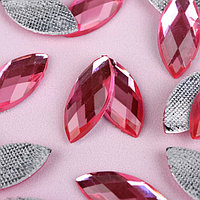 Стразы термоклеевые «Лепесток», 9 × 20 мм, 20 шт, цвет розовый