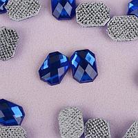 Стразы термоклеевые «Прямоугольник», 6 × 8 мм, 50 шт, цвет синий