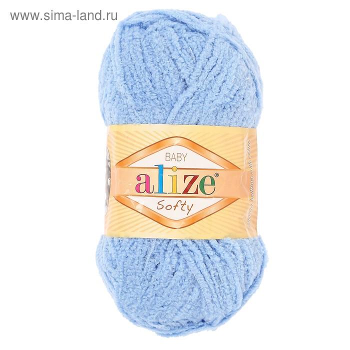 "Пряжа ""Softy"" 100% микрополиэстер 115м/50гр (40 голубой) - фото 2"