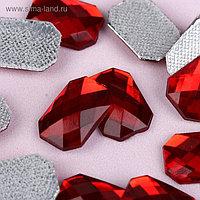 Стразы термоклеевые «Прямоугольник», 10 × 14 мм, 20 шт, цвет красный