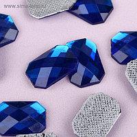 Стразы термоклеевые «Прямоугольник», 10 × 14 мм, 20 шт, цвет синий