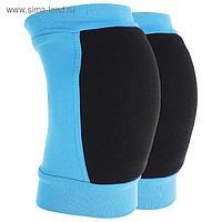 Наколенники для гимнастики и танцев с уплотнителем, размер XS (4-7 лет), цвет бирюза/чёрный