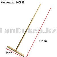 Швабра для мытья полов деревянная светлая 115 см 01