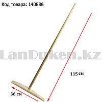Швабра для мытья полов деревянная светлая 115 см 02