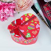 Коробка подарочная в форме сердца сердце 10 х 11 х 5,5 см МИКС