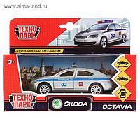 Машина металлическая Scoda Octavia полиция, 12 см, открывающиеся двери и багажник