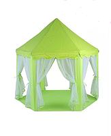 Детская игровая палатка замок зеленый