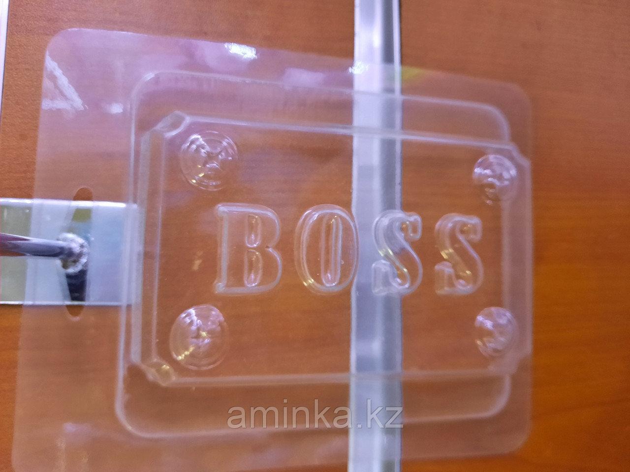 Надпись мыло Босс