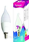 Лампа свеча  SAT 7вт E14 6000К