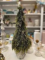 Новогодняя елка, искусственная, в кашпо, высота 60 см
