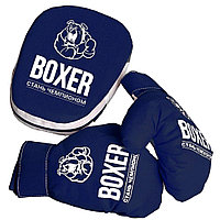 Детские боксерские перчатки и лапа