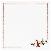 Салфетка под приборы, орнамент «Санта Клаус» белый / красный, 37x37 см