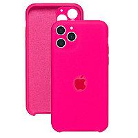 Силиконовый чехол для Apple iPhone 11 Pro Max,Неоново-розовый,Silicone Case