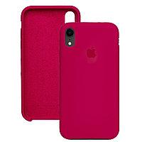 Силиконовый чехол для Apple iPhone X / XS, Малиновый, Silicone Case
