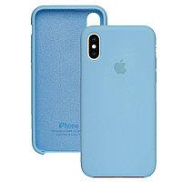 Силиконовый чехол для Apple iPhone X / XS, Светло-голубой, Silicone Case