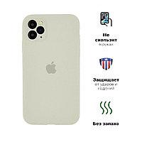 Силиконовый чехол для Apple iPhone 11 Pro, бежевый, Silicone Case