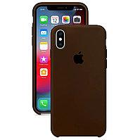Силиконовый чехол для Apple iPhone XS Max, Коричневый, Silicone Case