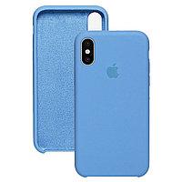Силиконовый чехол для Apple iPhone XS Max, Голубой, Silicone Case