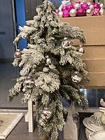 Новогодняя елка, заснеженная, высота 120 см, искусственная