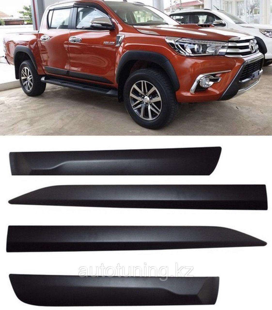 Молдинги Дверей на Toyota HILUX REVO 2016+