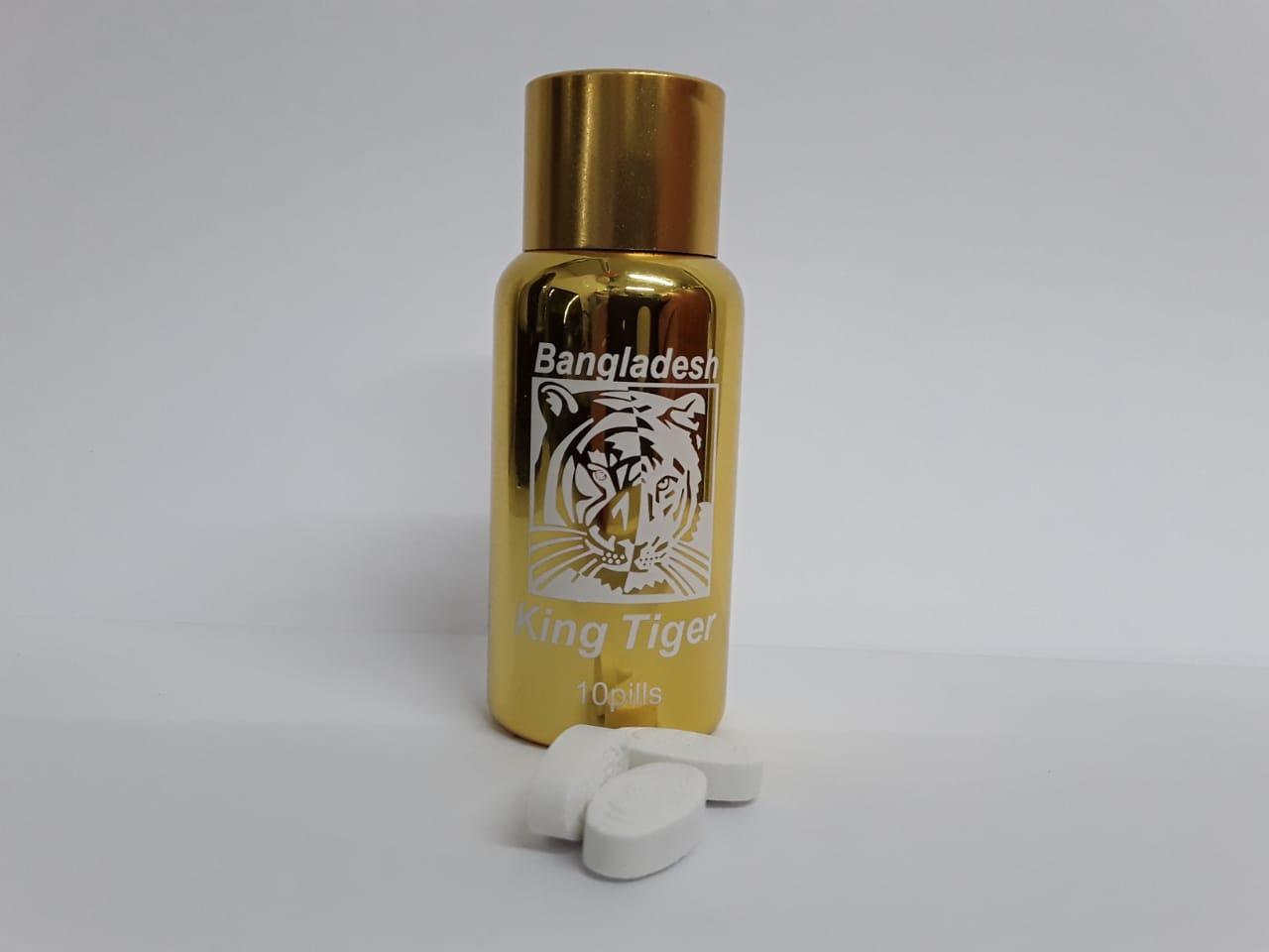 Bangladesh King Tiger Бенгальский тигр средство для повышения потенции, флакон 10 таблеток