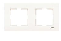 Рамка для розеток и выключателей горизонтальная KARRE KREM 2LI YATAY CERC (ramkaX2)