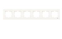 Рамка для розеток и выключателей горизонтальная KARRE KREM 6LU YATAY CERC