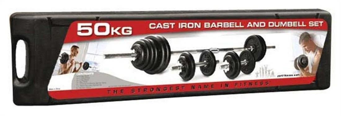 Набор гантелей + штанга сборная York Fitness 50 кг - фото 2