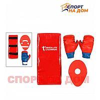 Детский игровой набор «Чемпион» перчатки+лапа+макивара