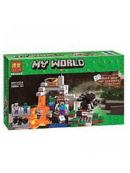 Bela My World 10174 Конструктор Пещера Майнкрафт (Аналог LEGO 21113)