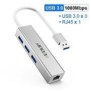 Сетевая карта EDUP USB 3.0 - LAN, RJ-45,1000 Mbps EDUP   Адаптер Переходник Ethernet Конвертер USB 3.0 - RJ-45 HUB