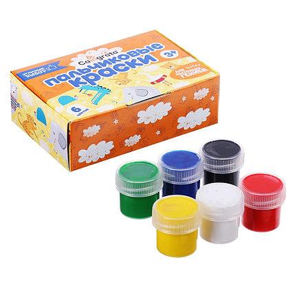 Краски пальчиковые набор 6цв*20мл Calligrata 3+
