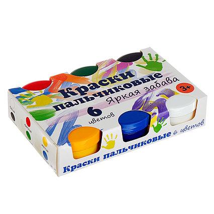 Краски пальчиковые, набор 6 цветов х 60 мл, «Спектр», 360 мл, «Яркая забава» (от 3-х лет)