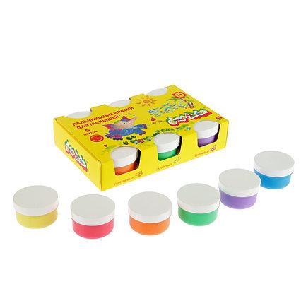 Краски пальчиковые, набор 6 цветов х 60 мл, «Каляка-Маляка», для малышей