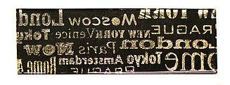 Декор золото буквы