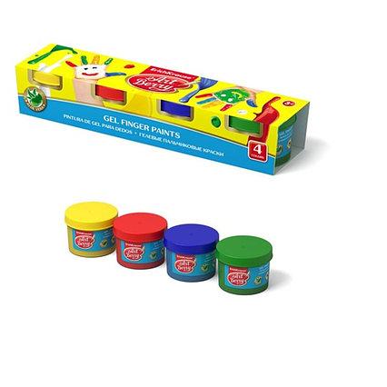 Краски пальчиковые, набор 4 цвета х 35 мл, ArtBerry, с Алоэ Вера