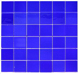 Крупная стеклянная мозаика ультрамарин