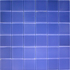 Крупная стеклянная мозаика светлый голубой