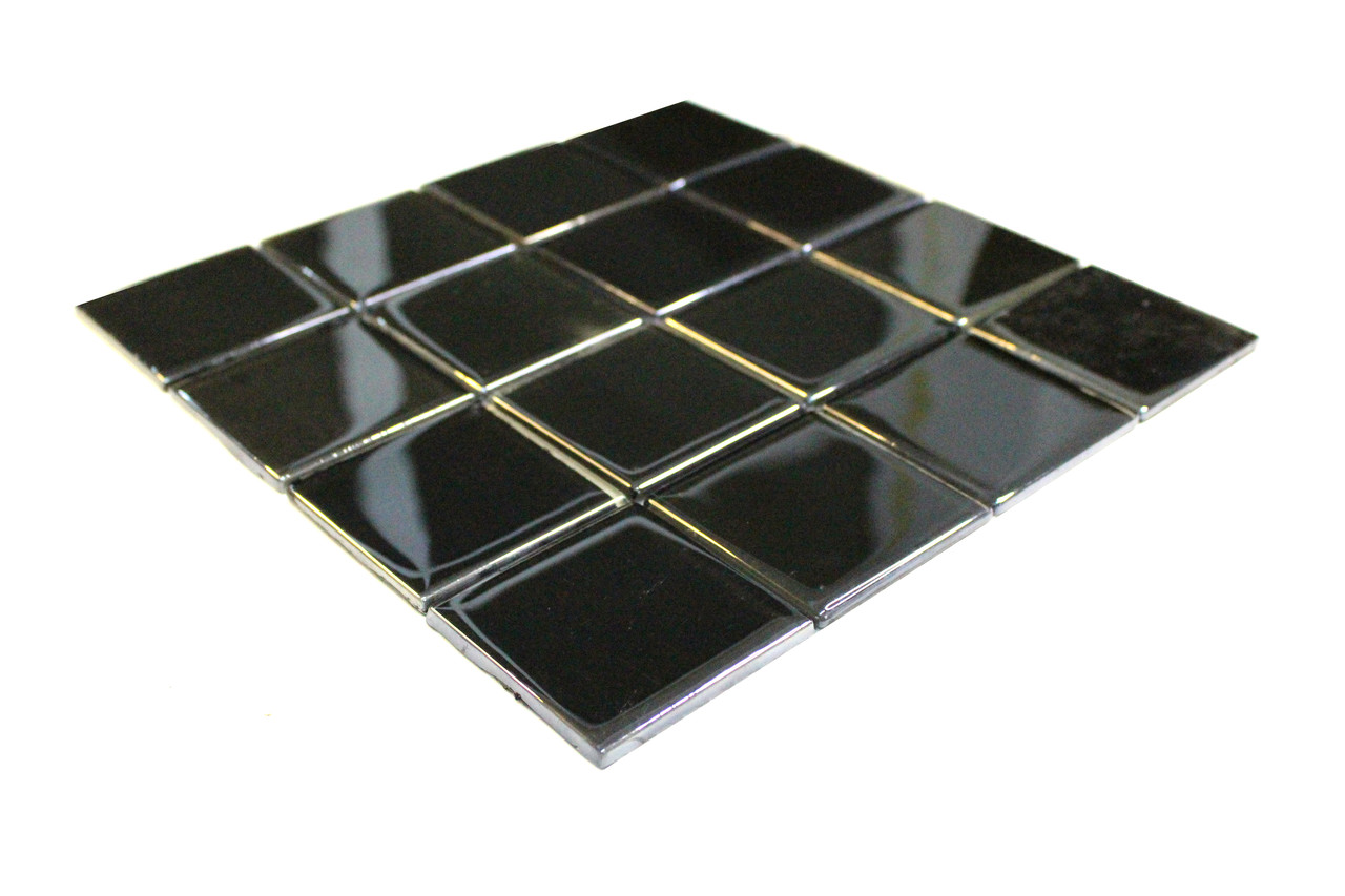 Крупная стеклянная мозаика зеркальный