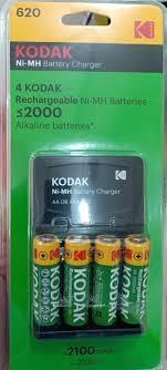Комплект Зарядное устройство c аккумуляторами 4 x AA (2100 mah) kodak k620, фото 2