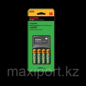 Комплект Зарядное устройство c аккумуляторами 4 x AA (2100 mah) kodak k620