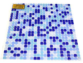 Мелкая перламутровая мозаичная плитка голубой мелкий квадрат