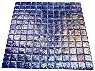 Перламутровая мозаичная плитка синий лак