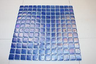Перламутровая мозаичная плитка голубой лак