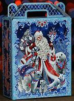 """Новогодний подарок """"Дед Мороз на синем"""" 1000 гр."""